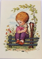 (796) Kindje Met Een Envelop - Roodborstjes - Vlinder - 1980 - Cartes Postales