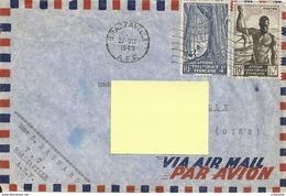 AFRIQUE EQUATORIALE FRANCAISE BRAZZAVILLE 1949 - ENVELOPPE TIMBREE POUR FRANCE - A.E.F. (1936-1958)