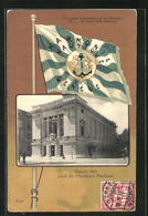 AK Geneve, Victoria Hall, Local De L'Harmonie Nautique, Flagge - GE Genève
