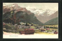 AK Ormont-Dessus, Ortsansicht Mit Alpenpanorama - VD Waadt