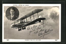 AK Handley Page W.10 Air Liner, Pilot Capt. Earl B. Fielden - Unclassified