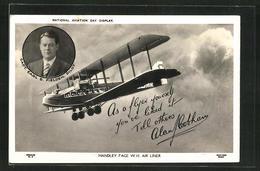 AK Handley Page W.10 Air Liner, Pilot Capt. Earl B. Fielden - Flugzeuge