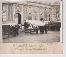 PRÉPARATIFS 1911 ARRIVÉE D'UN AÉROPLANE AVIATEUR 18*13CM Maurice-Louis BRANGER PARÍS (1874-1950) - Aviación