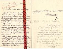 Brief Lettre - Notaris H. Vermast Maldegem - Naar Kadaster 1923 - Vieux Papiers