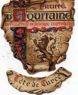Jolie Etiquette De Vin Fruité D'Aquitaine Années 50. Bergerac. - Bergerac