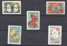 Turkey Complete Butterfly Papillon Set Mnh ** - 1921-... Republik