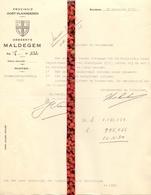Brief Lettre - Gemeente Maldegem - Naar Kadaster 1930 - Vieux Papiers
