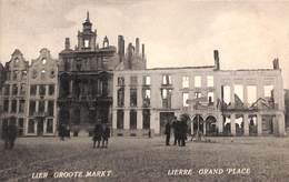 Lier Lierre - Groote Markt  (met 'wachtzaal Voor Den Tram'..) - Lier