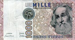 Billet De L'Italie De 1000 Lire Le 3 Octobre 1990 En S U P-signature Ciampi Et Stevani - - 1000 Lire