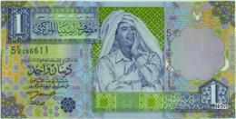Libya 1 Dinar (P64) 2002 Sign 7 -UNC- - Libië