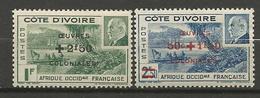 COTE D'IVOIRE  N° 175 ET 176 NEUF** LUXE SANS CHARNIERE / MNH - Neufs