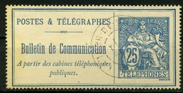 FRANCE   Timbre Téléphone   N° Y&T  TEL24  (o) - Telegrafi E Telefoni