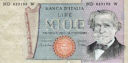 Billet De L'Italie De 1000 Lire Le 30 Mai 1981 En B - Signature Ciampi - [ 2] 1946-… : République