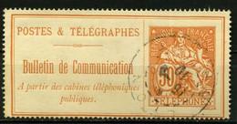 FRANCE   Timbre Téléphone   N° Y&T  TEL27  (o) - Telegrafi E Telefoni