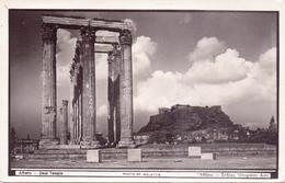 Schöne ALTE Foto- AK  ATHEN / Griechenland  - Teilansicht Mit Zeus Tempel - 1940 Ca. Gelaufen - Griechenland