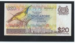"VINTAGE !  ""A"" Prefix  ! SINGAPORE $20 BIRD SERIES PAPER MONEY BANKNOTE A/79-386537 (#51B) - Singapore"