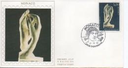 /FDC MONACO    AUGUSTE RODIN SCULTURE  N° YVERT ET TELLIER  1748    1990 - FDC