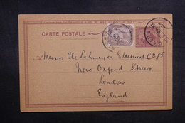 EGYPTE - Entier Postal + Complément Du Caire Pour Londres En 1905 - L 39369 - Égypte