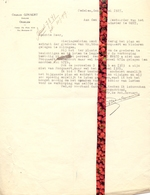 Brief Lettre - Notaris Ch. Govaert Oedelem - Naar Kadaster 1927 Ivm Eigendom Focquaert Te Maldegem + Brief Met Antwoord - Vieux Papiers