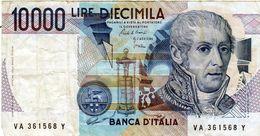 Billet De L'Italie De 10.000 Lire Le 3 Septembre 1984 En T T B Signature Ciampi - [ 2] 1946-… : République