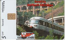 SUISSE - PHONE CARD - TAXCARD-PRIVÉE * CHIP *** TRAIN - ZUG - 150 ANS / 18 *** - Suisse