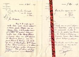 Brief Lettre - Notaris H. Vermast Maldegem - Naar Kadaster 1929 Ivm Plan Gronden Familie Rotsart De Hertaing - Vieux Papiers