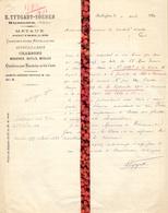 Brief Lettre - E. Tytgadt - Soenen Maldegem - Naar Kadaster 1921 + Brief Met Antwoord - Vieux Papiers