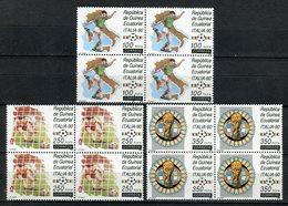 Guinea Ecuatorial 1990. Edifil 123-125 X 4 ** MNH. - Äquatorial-Guinea