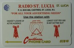 SAINT LUCIA - GPT - 17CSLA - $10 - STL-17A - Radio St Lucia - VF Used - Santa Lucía