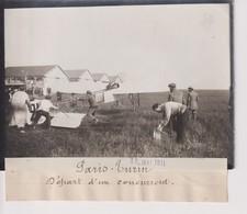 PARIS TURIN 1911 DÉPART D'UN CONCURRENT  18*13CM Maurice-Louis BRANGER PARÍS (1874-1950) - Aviación