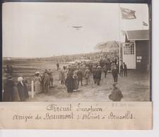 CIRCUIT EUROPÉEN ARRIVEE DE BEAUMONT  SUR BLÉRIOT A BRUXELLES BELGIQUE  18*13CM Maurice-Louis BRANGER PARÍS (1874-1950) - Aviación