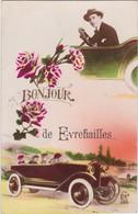 EVREHAILLES-BONJOUR DE-AUTOMOBILE-AUTO-CARTE ECRITE+DATEE-1925-TOP+TRES RARE-VOYEZ LES 2 SCANS - Yvoir