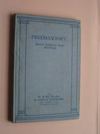 "MASONIC * FREEMASONS * FONTE * VRIJMETSELARIJ "" Book FREEMASONRY Sir John A. COCKBURN ( See Photos For Detail ) ! ! - Organisations"