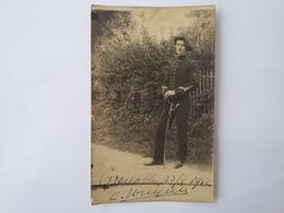CPA 1912 Photo D'un Soldat à Grenoble - Characters