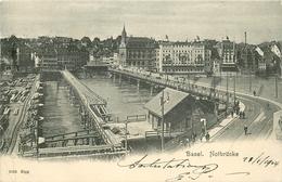 WW BASEL BALE. Notbrücke 1904 - BS Basel-Stadt