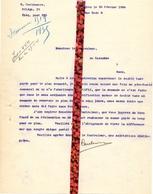 Brief Lettre - Hector Cuelenaere Maldegem - Naar Kadaster 1924 + Brief Met Antwoord - Vieux Papiers