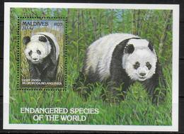 MALDIVES  BF 285 * *  ( Cote 10e ) Panda Ours - Ours