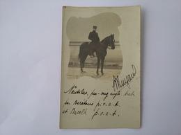 CPA  Photo 1912  Militaire Sur Un Pur Sang Arabe Nautilus - Characters