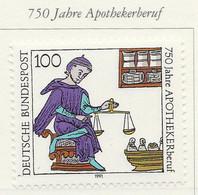 PIA - GERMANIA : 1991 : 750° Anniversario Della Professione Di Farmacista  - (Yv 1322) - Farmacia
