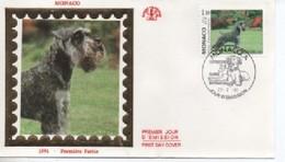 /FDC MONACO  EXPOSITION CANINE    N° YVERT ET TELLIER  1730  1991 - FDC