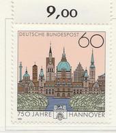 PIA - GERMANIA : 1991 : 750° Anniversario Della Città Di Hannover  - (Yv 1323) - [7] Repubblica Federale