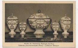 PARIS - MUSEE DE L' ASSITANCE PUBLIQUE - FAIENCES PHARMACEUTIQUES - COLLECTION BEAUJON - FORMAT CPA ECRITE AU DOS - Museums