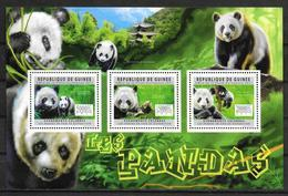 GUINEE  Feuillet  N° 6031/33   * * ( Cote 20e ) Ours Panda - Ours