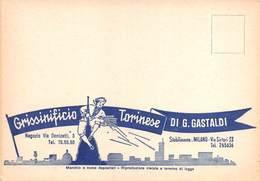 """08514 """"GRISSINIFICIO TORINESE DI G. GASTALDI - MILANO"""" CART. ORIG. NON SPED. - Mercanti"""