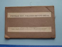 """"""" VILLERS - DEVANT - ORVAL """" Kaart Op Katoen / Linnen / Cotton - Institut Cartographique Militaire 1907 ( Zie Foto's ) ! - Cartes Géographiques"""