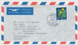 Portogerechte Mischfrankatur Auf Luftpostbrief Gelaufen - BERN - COPENHAGEN DK - Lettres & Documents