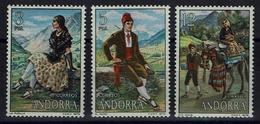 Andorra (spanische Post) 1979 - Trachten  Folk Costume - MiNr 120-122** - Kostüme