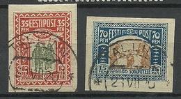Estland Estonia 1920 Michel 21 - 22 O - Estland