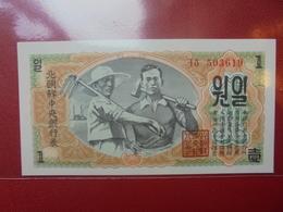 COREE(NORD) 1 WON 1947 PEU CIRCULER/NEUF - Korea (Nord-)