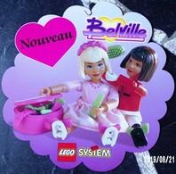 PUBLICITÉ LEGO SYSTEM BELVILLE DES ANNÉES 1980/1990 ? UN MOBILE DE 1 ÉLÉMENT A SUSPENDRE 36X36cm - SITE Serbon63 - Duplo